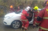 14:42 Se recibe aviso de una colisión vial en Av. Perito Moreno a la altura de la Planta Orion