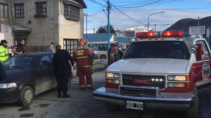 17/8/16 14:08 hs. Accidente vehicular en Calle Canga y Darwin