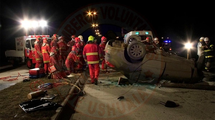 Fotografia destacada, de un accidente vehicular