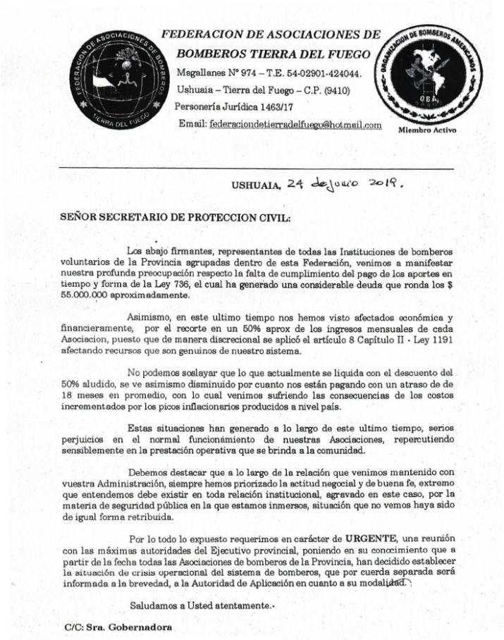 DELICADA SITUACIÓN DE LOS CUARTELES DE BOMBEROS VOLUNTARIOS PROVINCIALES