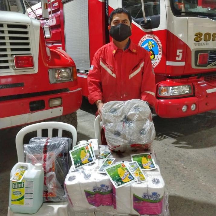 Donación de artículos de limpieza