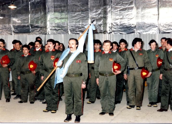 Foto del personal en la inauguración del Destacamento José Soto