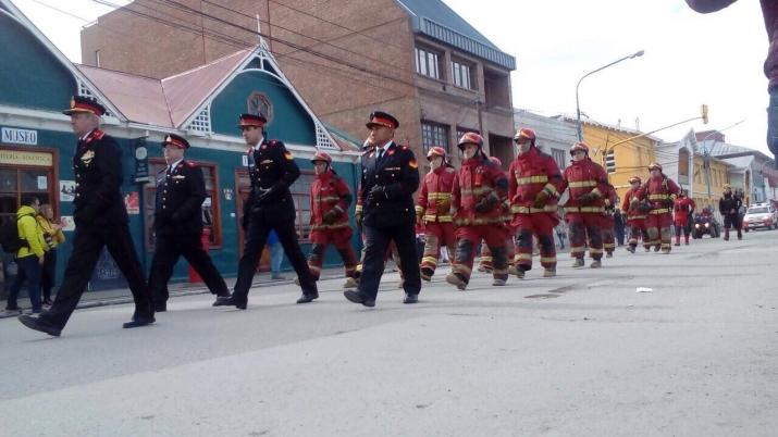 Fotografías del desfile Cívico Militar Aniversario 133° de la ciudad de Ushuaia