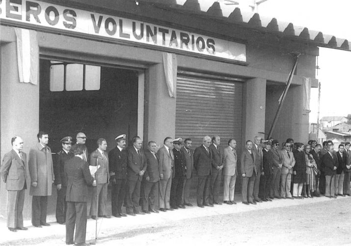 Inauguracion Cuartel Central calle Magallanes año 1980