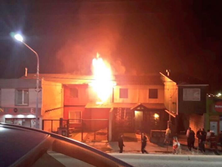 Voraz Incendio en una vivienda en calle Magallanes al 1700