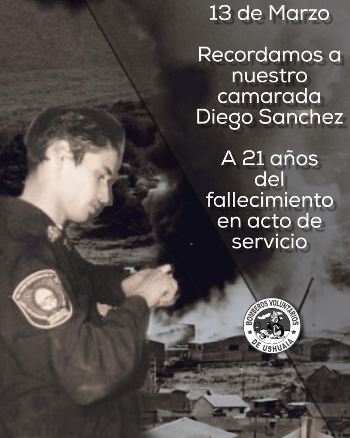 A 21 años de la Explosión de Ingeniaría Guerra donde pierde la vida, el Bombero Diego Sánchez
