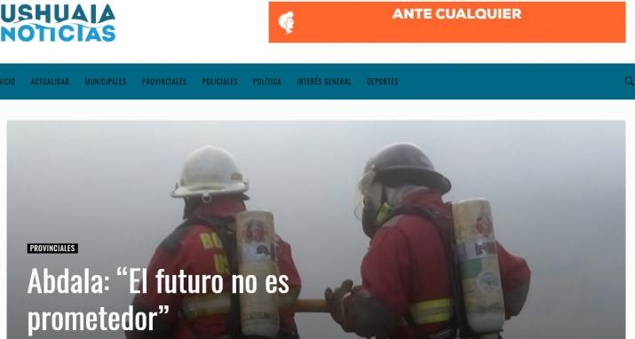 Nota del Portal USHUAIA NOTICIAS, al Presidente de la Asociación José María Abdala