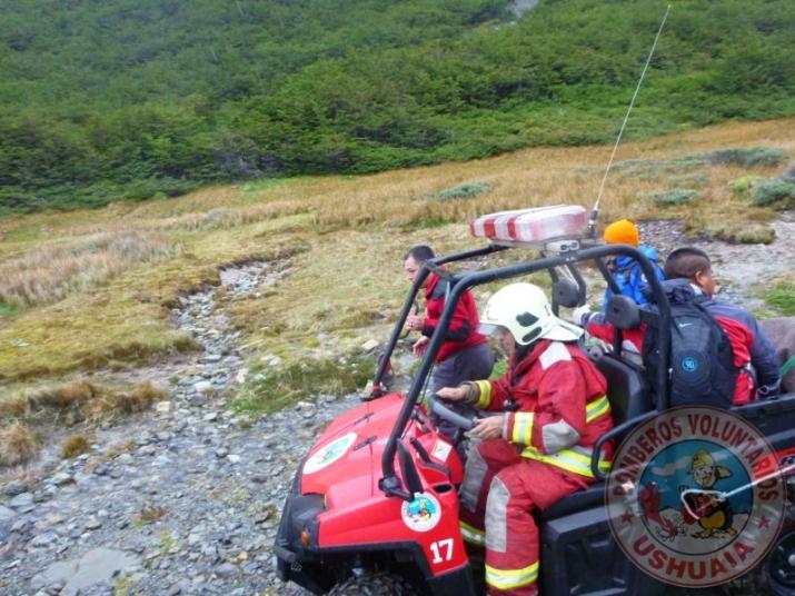 Preparativos salida Rescate con la Comisión de Auxilio de Ushuaia