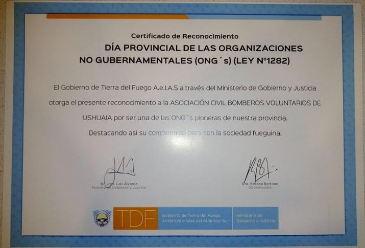 Reconocimiento de la IGJ a nuestra asociación.