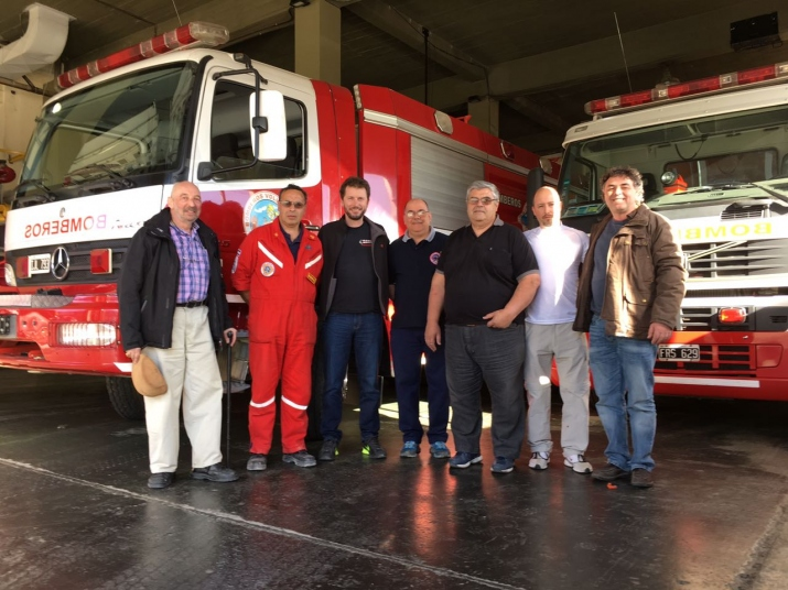 Visita de representantes de las firmas ROSENBAUER INT. A.G. y  ARD S.A.