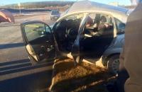 Accidente vehicular, acceso Aeropuerto Internacional Malvinas Argentina de la ciudad de Ushuaia.