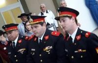 Custodia de dos Banderas que flamearon en el Hospital Regional Ushuaia